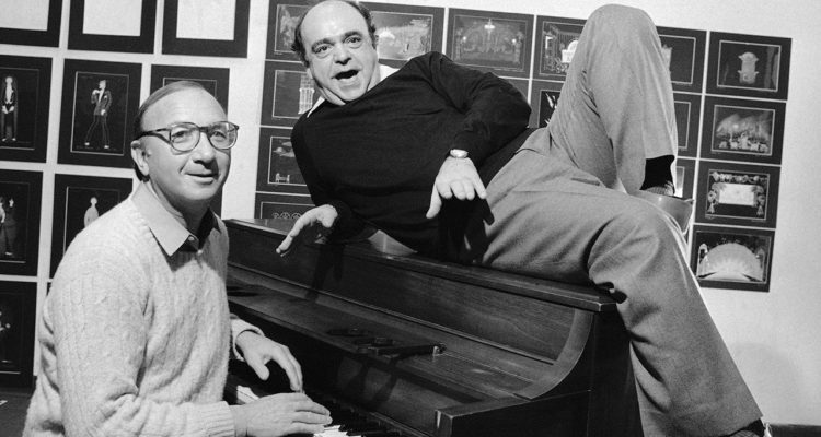 Photo of playwright Neil Simon and actor James Coco