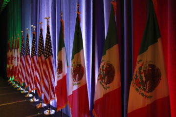 Photo of Canadian, U.S. and Mexican flags
