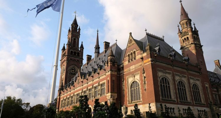 Photo of the International Court of Justice in the Hague, the Netherlands