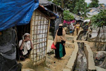 Photo of a Rohingya community