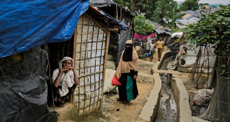 Photo of a Rohingya community