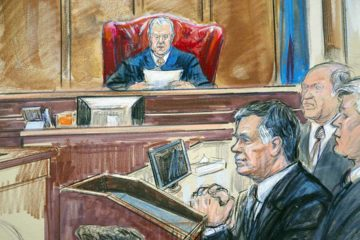 Paul Manafort Verdict Artist Rendering