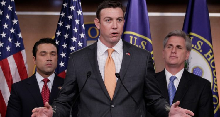 Photo of Duncan Hunter speaking at a news conference
