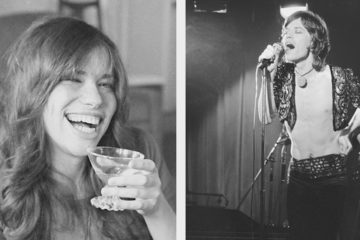 Photo combo of Mick Jagger and Carly Simon - 1971