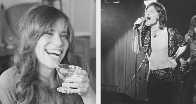 Photo combo of Mick Jagger and Carly Simon - 1971