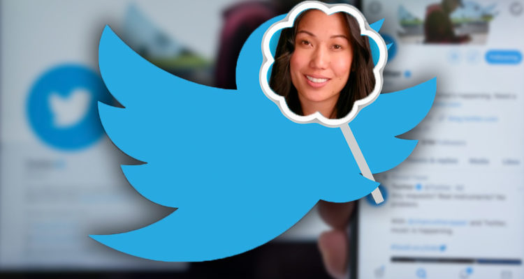 Photo Illustration conceptualizing Twitter's block of an Elizabeth Heng campaign ad