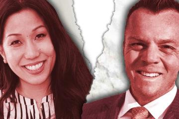 Photo graphic of Elizabeth Heng and Erik Brown