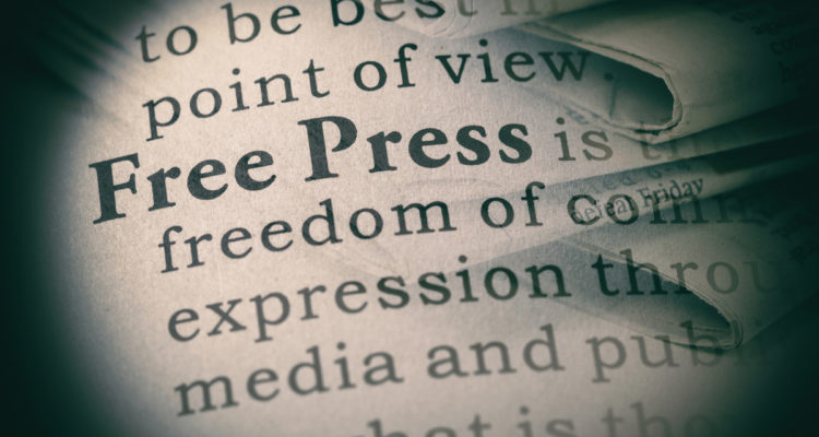 "The words ""free press"""