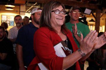 Photo of Vermont Democratic gubernatorial candidate Christine Hallquist, a transgender woman