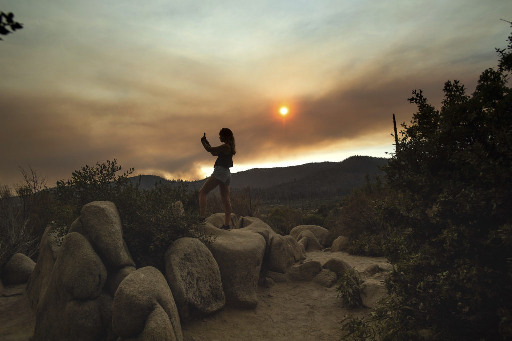 Photo of Ferguson Fire smoke in Yosemite