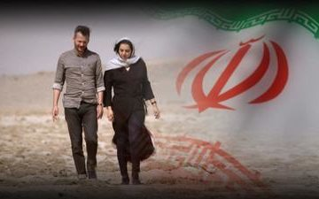 Photo of Thomas Erdbrink and his wife in Iran.