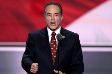 Photo of Chris Collins speaking in Cleveland
