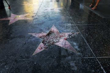 Photo of Donald Trump's Hollywood Walk of Fame star destroyed