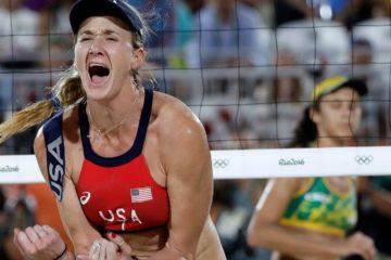 Photo of Kerri Walsh Jennings during the 2016 Summer Olympics