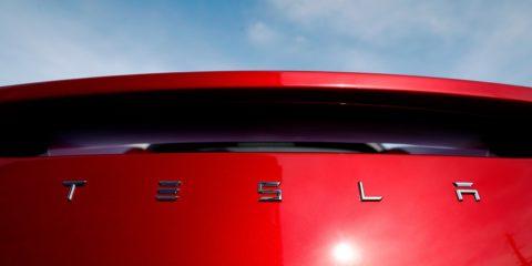 File Photo of Tesla rear deck
