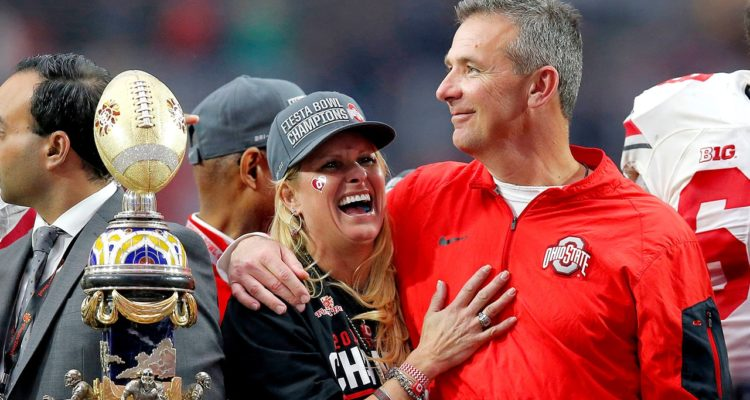 Photo of Urban Meyer and his wife, Shelley Meyer