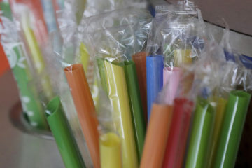 Photo of brightly colored straws