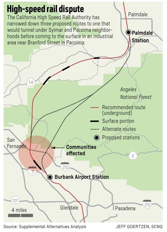 Photo of California-Las Vegas train map