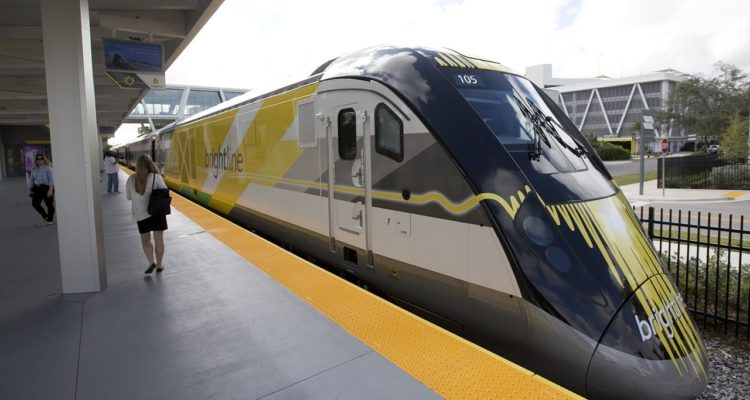 Photo of Brightline train at the station