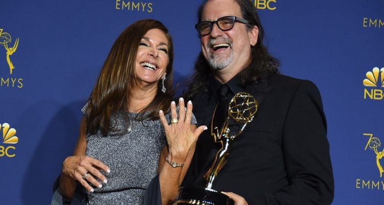Photo of Glenn Weiss after proposing to Jan Svendsen