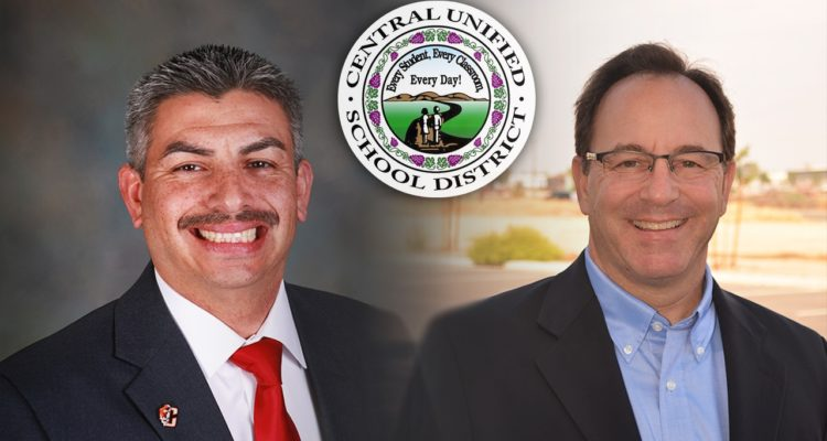 Photos of Central Unified Area 1 candidates Cesar Granda and Jason Paul