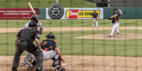 Fresno Grizzlies baseball action at Chukchansi Park