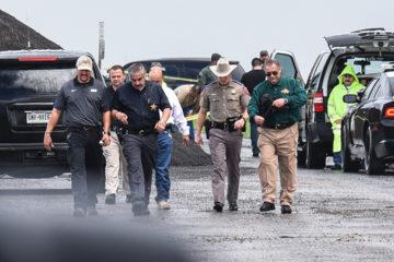 Photo of law enforcement officers near Interstate 35 in Laredo, TX