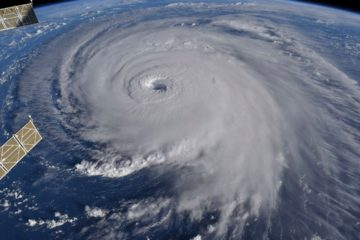 Satellite image of Hurricane Florence from the International Space Station