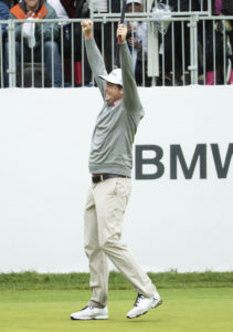 Photo of Keegan Bradley celebrating