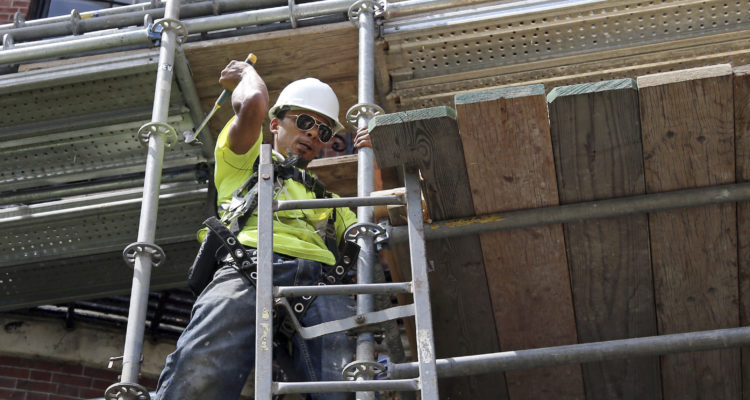 Photo of a construction worker in Boston
