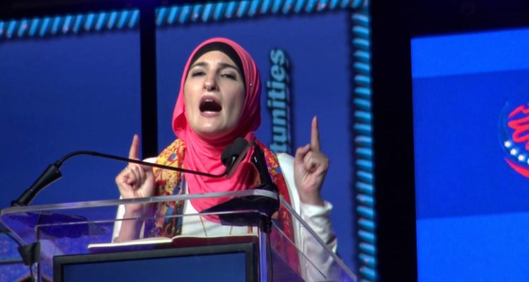 Photo of controversial liberal activist Linda Sarsour