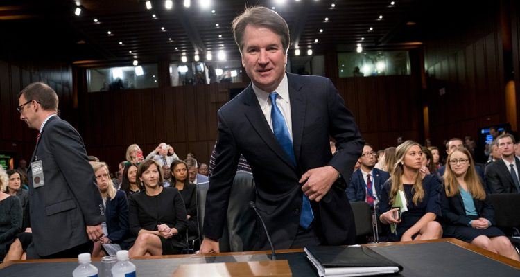 Photo of President Donald Trump's Supreme Court nominee, Brett Kavanaugh at a federal appeals court