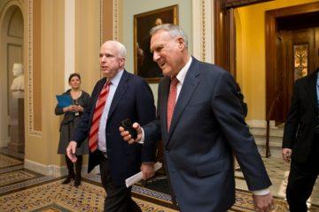 Photo of Sen. John McCain and Senate Minority Whip Jon Kyl in 2012