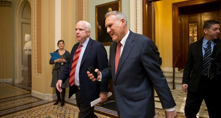 Photo of Sen. John McCain and Senate Minority Whip Jon Kyl in 2012