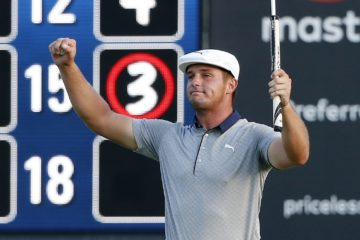 Photo of Bryson DeChambeau winning his second straight FedEx Cup tournament