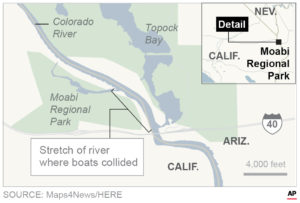 Graphic of Colorado River boating accident location