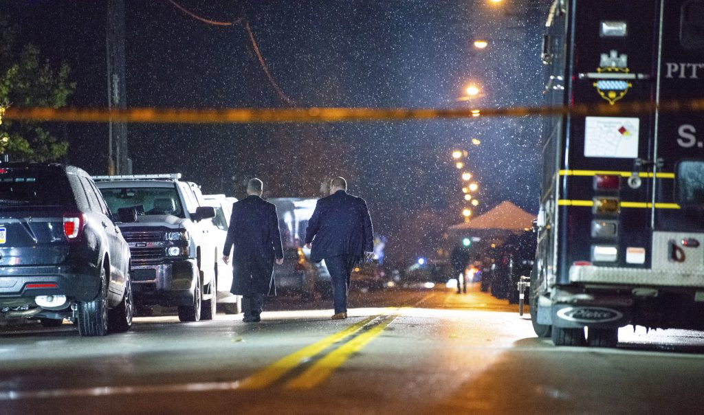 Photo of officers investigating shooting