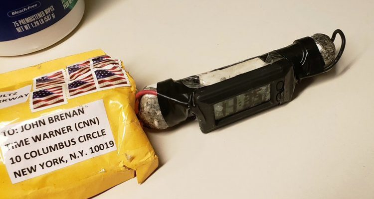 Picture of a mail bomb