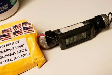 Photo of the packages addressed to John Brennan