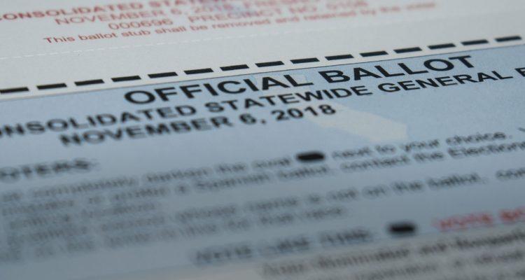 Absentee ballot for California vote