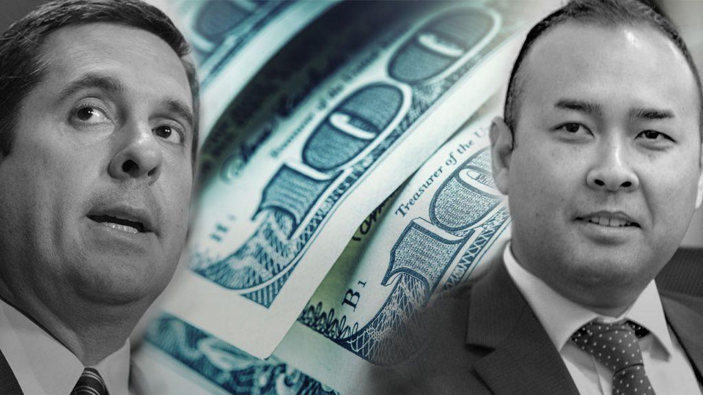Photo illustration of Nunes, Janz and $100 bills