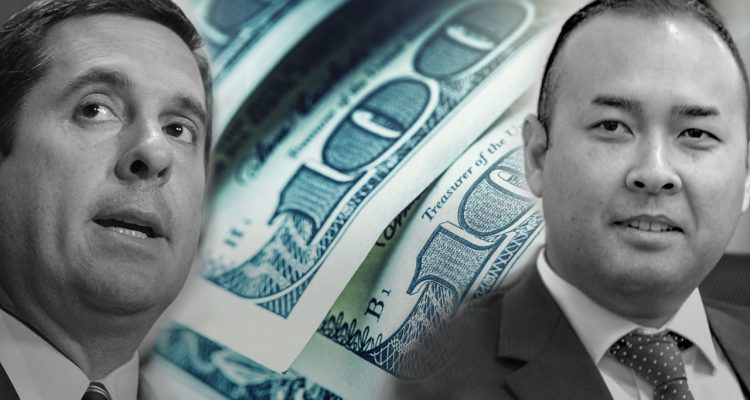 Photo illustration of Nunes, Janz and $100 bills