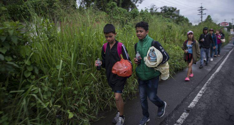 Photo of Honduran migrant children