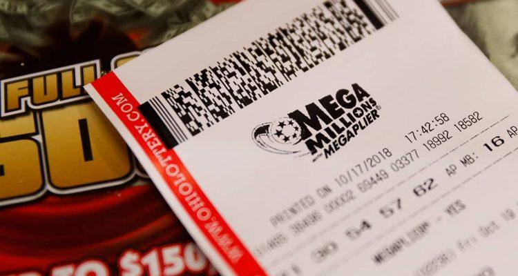 Photo of a Mega Millions lottery ticket