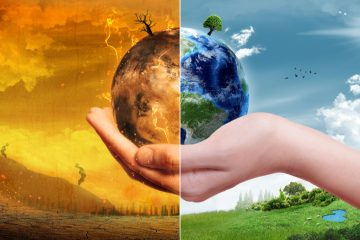 Photo illustration depicting impacts of climate change