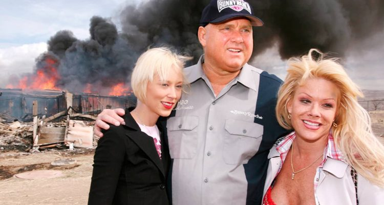 "Photo of Dennis Hof and his ""working girls"""