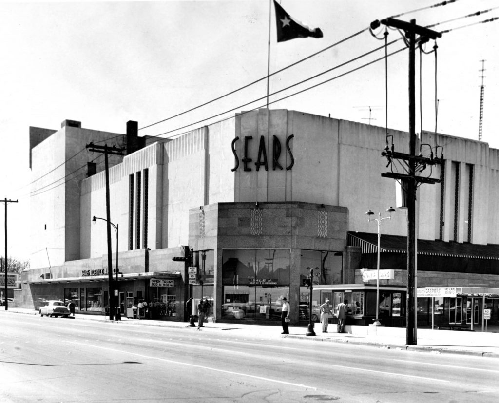 Photo of Sears building in downtown Houston in 1959