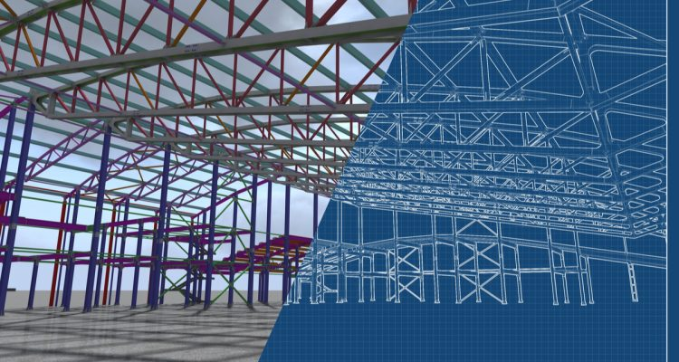 3D image of high-tech building construction