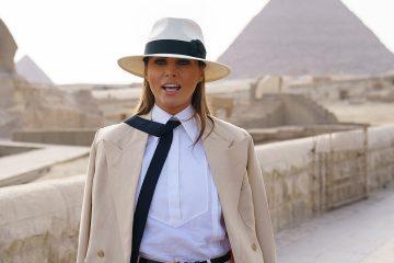 Photo of Melania Trump in Egypt