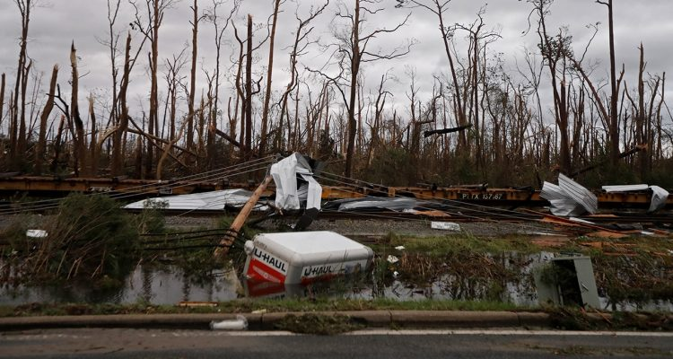 Photo of Hurricane Michael destruction